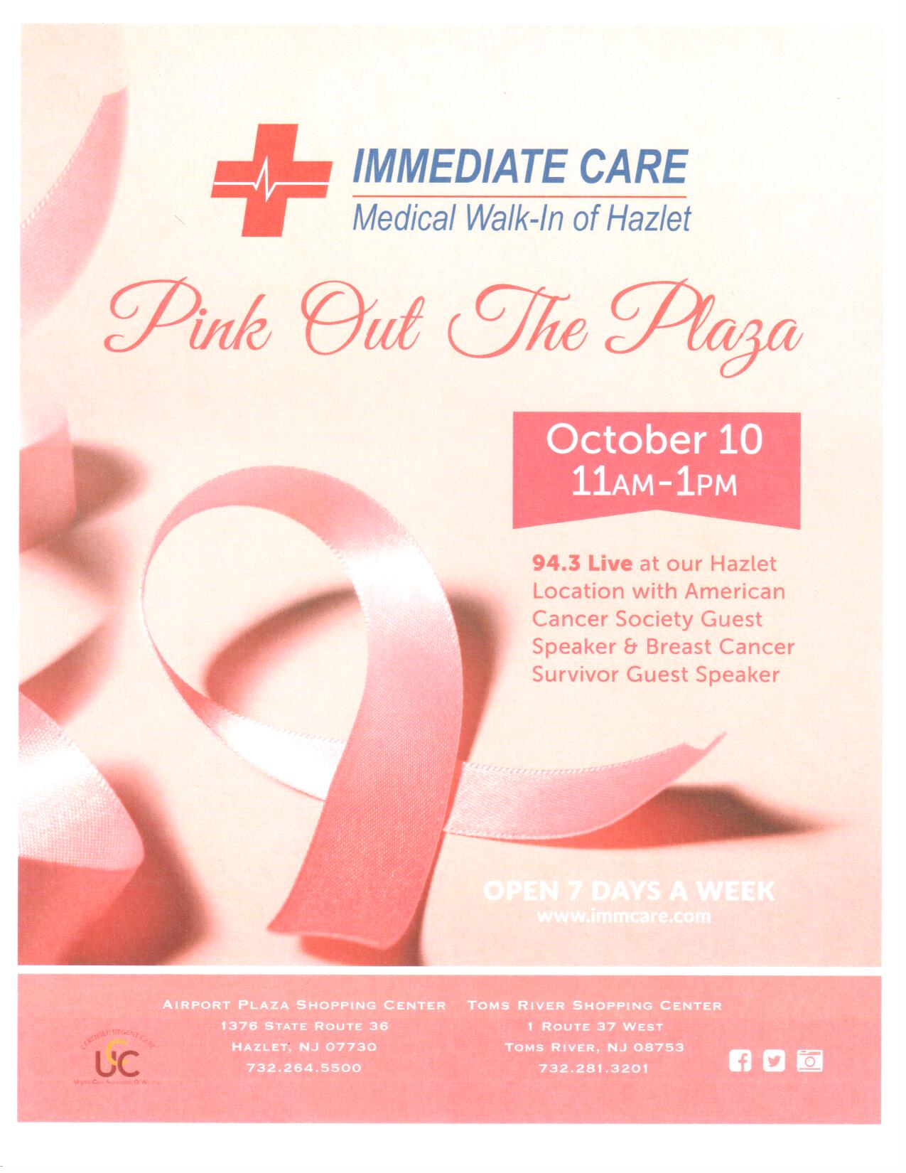 Paint the Plaza Pink Oct 10,11 & 12th